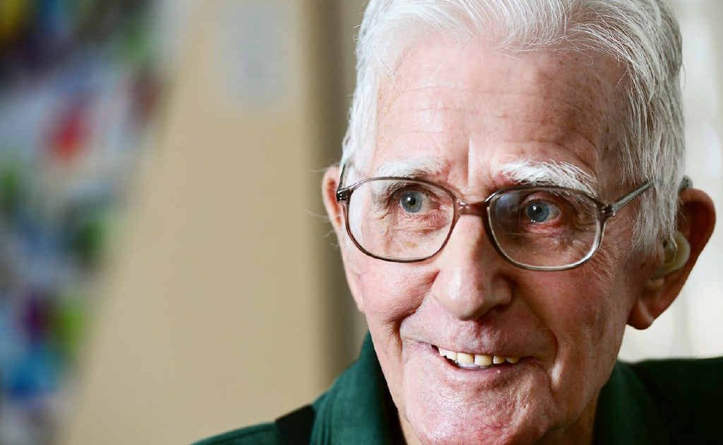 BRIGHT OUTLOOK: 89-year-old John Brennan of Marburg will take his first hot air balloon flight over Ipswich.