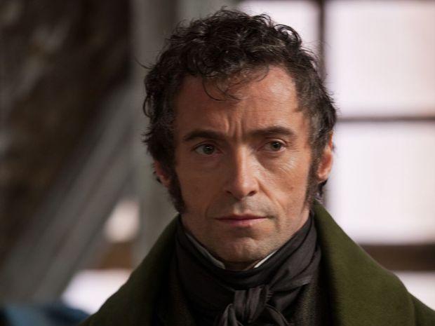 Hugh Jackman plays Jean Valjean in Les Miserables.
