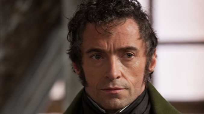 Hugh Jackman plays Jean Valjean in Les Miserables.