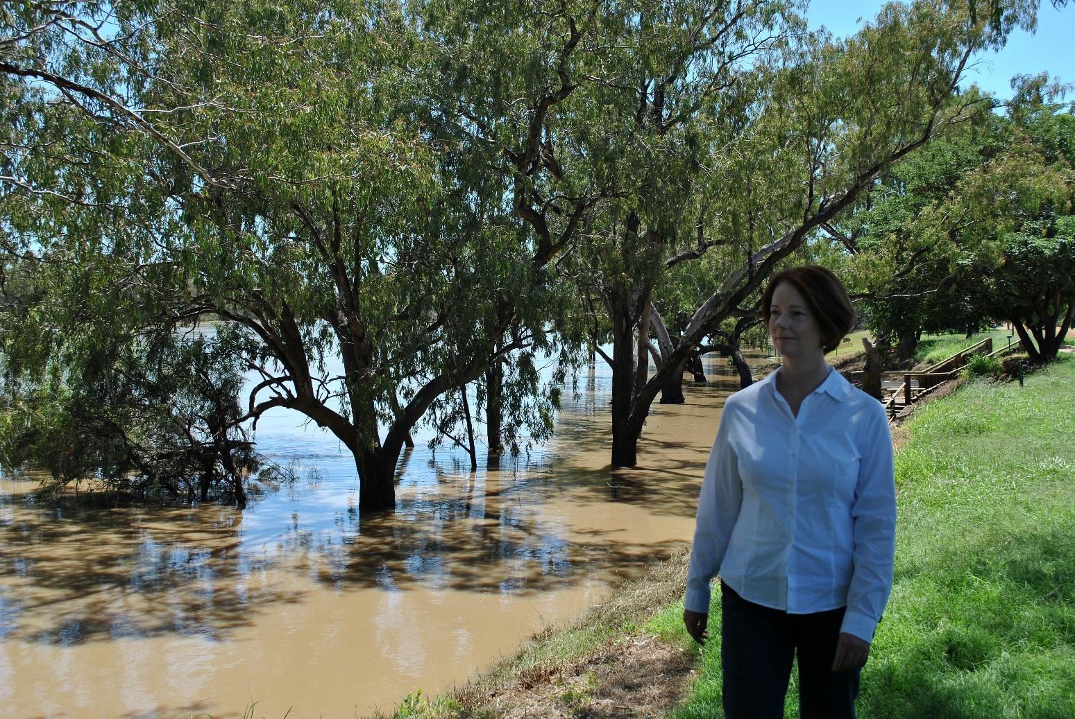 Julia Gillard during a visit to St George.