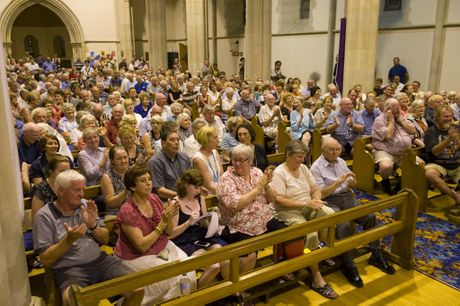 The crowd at last Friday&squot;s public crisis meeting.