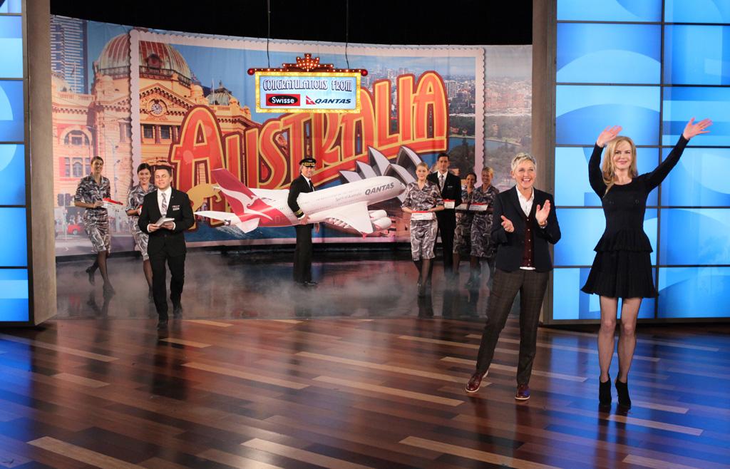 Ellen DeGeneres and Nicole Kidman announce the show's trip Down Under.