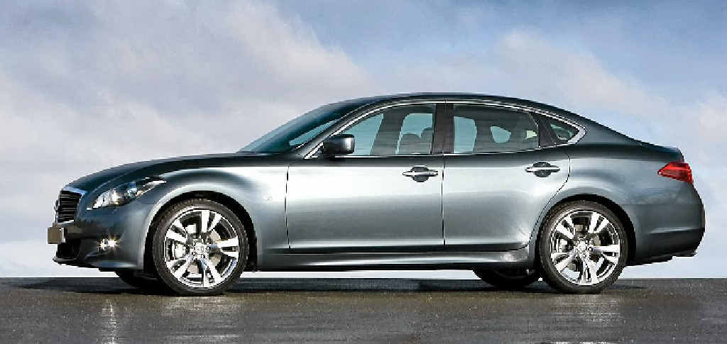 Infiniti's hybrid M sedan.