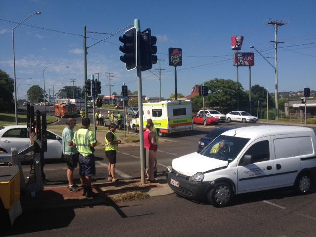 A three-car crash at Ruthven and Stenner Sts.