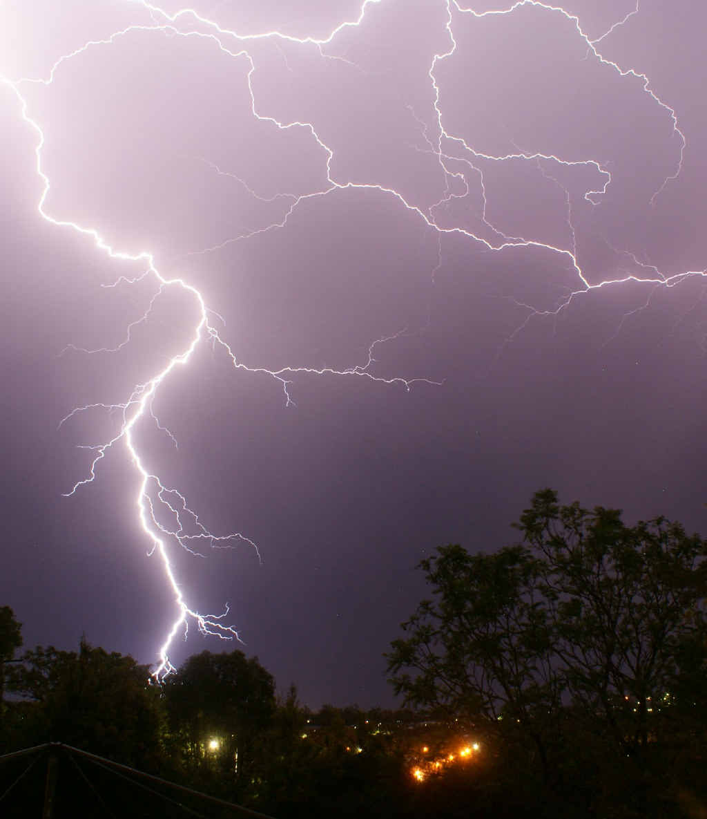 A man has been struck and killed by lightning while hiking.
