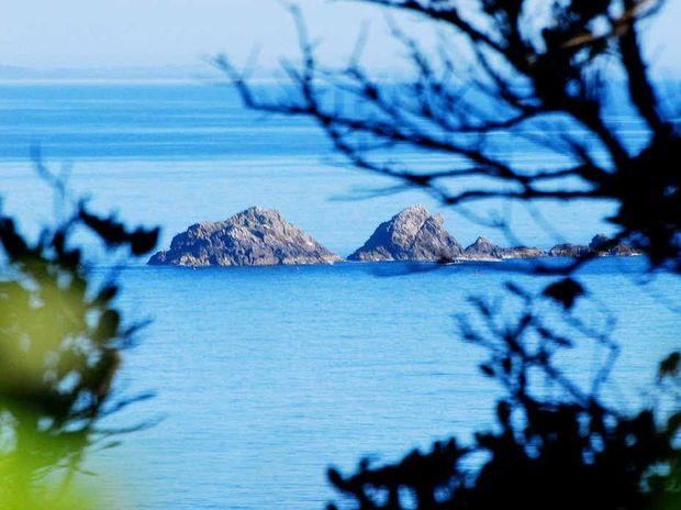 Julian Rocks, centre of a major sanctuary zone in the Cape Byron Marine Park.