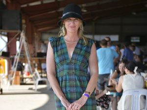 Tartan dress and cute accessories in lead for fashion poll