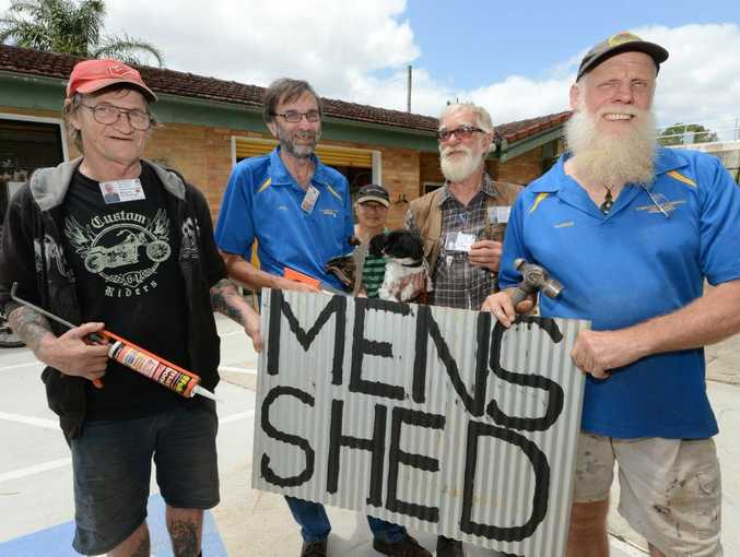 John Pitt, second from left, says the Tweed Men's Shed group will host a fundraiser next month.