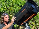 "PLANET EARL: Planet imager John Earl uses his 11"" Celestron Schmidt Cassegrain telescope to capture images of planets. He has been passionate about astronomy for 40 years and has been photographing and filming planets for over seven years."