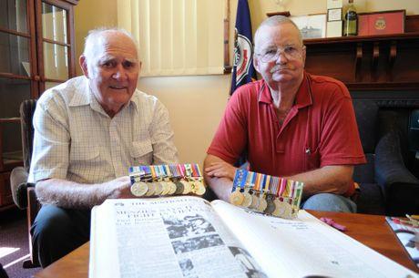Toowoomba veterans Jim Danskin and Huey James discuss their time spent serving in the Vietnam War.