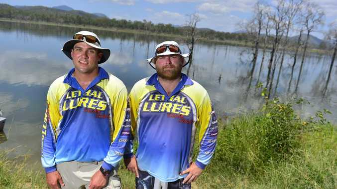 Steve Lill and Col Brett from Rockhampton enjoy the fishing at Awonga Dam.