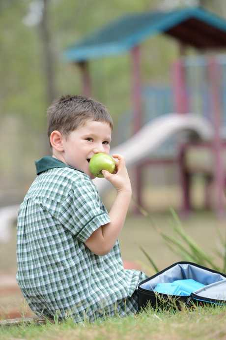 Six year old Travis Tomkins will be going into grade one and is looking forward to some healthy lunches.