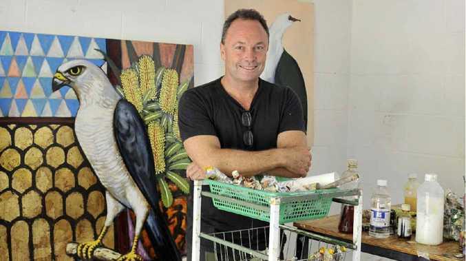 ECONOMIC ENGINE ROOM: Artist Steven Giese in his studio in Clunes.