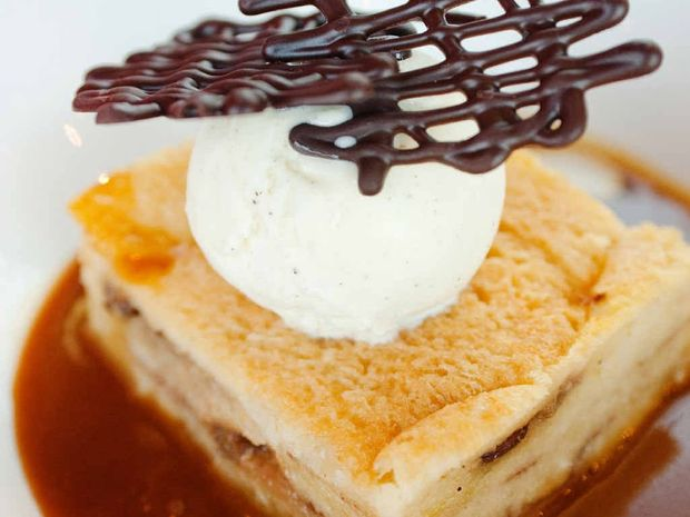 Bread and butter pudding gives a new twist.