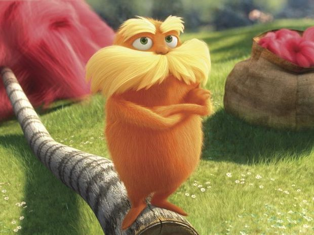 VISUALLY APPEALING: A scene from The Lorax.