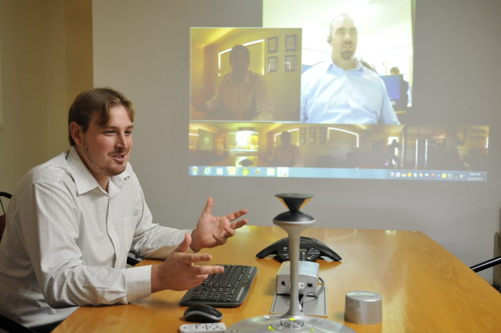 John Henderson from Downs Microsystems using the Microsoft Lync technology.