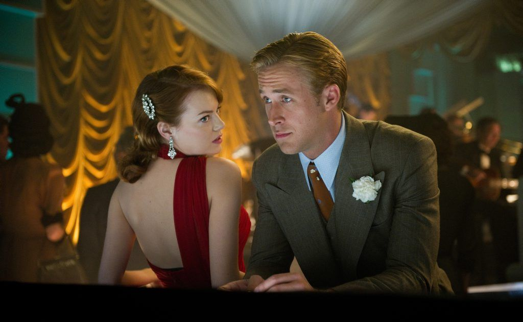 Emma Stone and Ryan Gosling in a scene from the movie Gangster Squad.