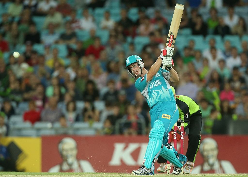 MASTER BLASTER: Chris Lynn of the Brisbane Heat will show his skills at Kingaroy tomorrow.