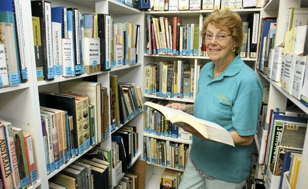 DELVING BACK: Genealogy Sunshine Coast research officer Merle Black can get back to the 1600s.