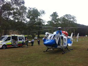 AGL chopper airlifts injured dirt bike rider