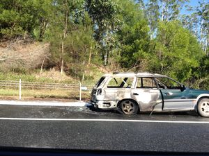 Car fire causes delay on Pacific Hwy south of Coffs Harbour