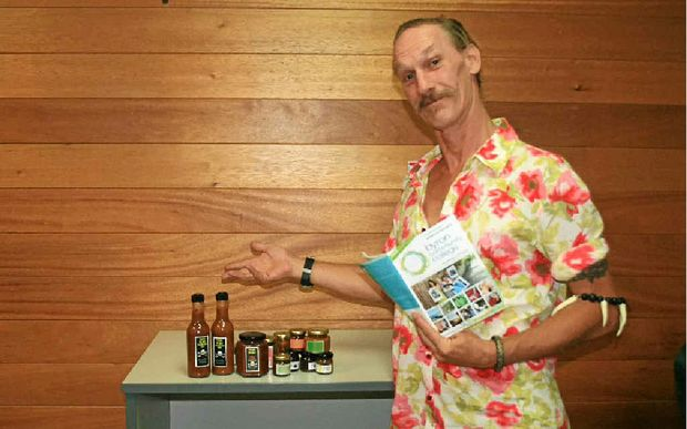FRESH SKILLS: Steve Probert with some his jams and sauces.