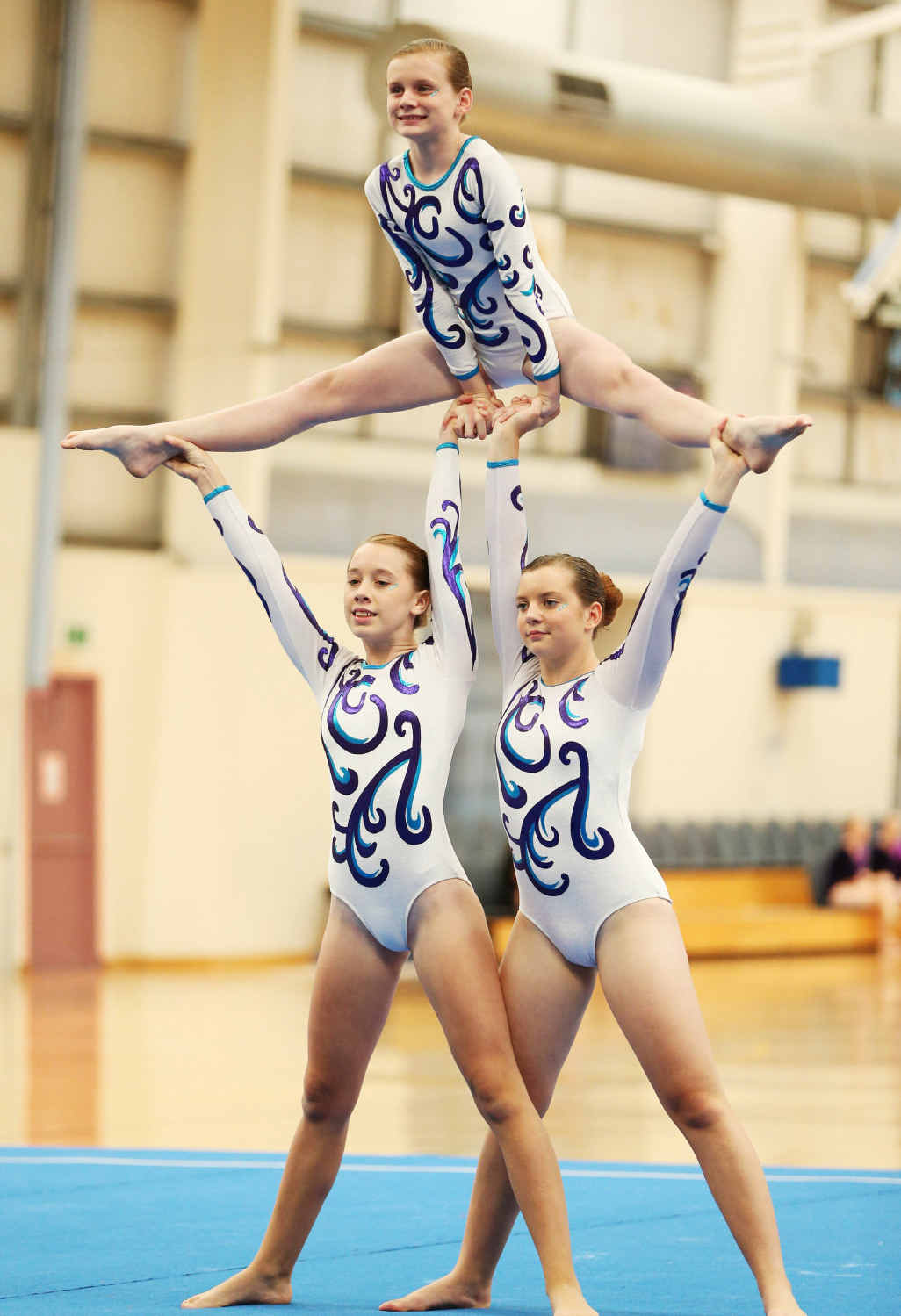 GYM GEMS: Mikayla Graves, Tahleah Hebbard and Holly Zerk at the Acrobatic Gymnastics National Club Championships and the Queensland Cup.