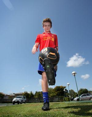 Soccer player Jesse Rigby. Photo Allan Reinikka / The Morning Bulletin