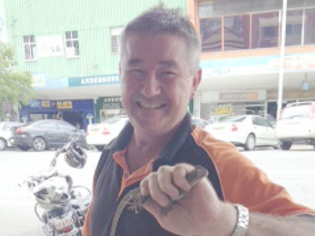 John King becomes a reptile hunter to remove lizard