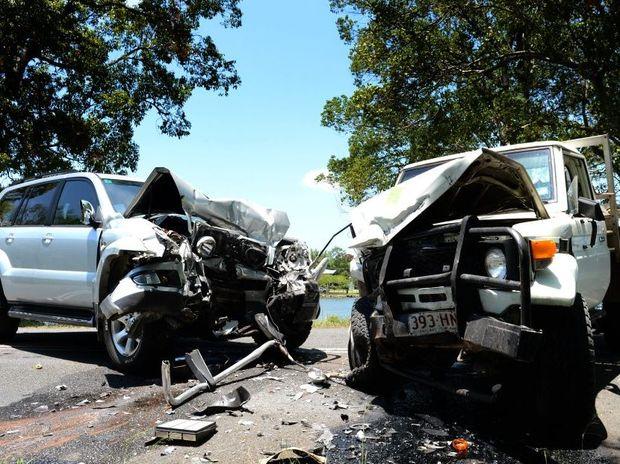 Car crash in Tumbulgum.