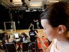 ...AND ACTION: Libby Munda gets behind the camera at at Studio 188.