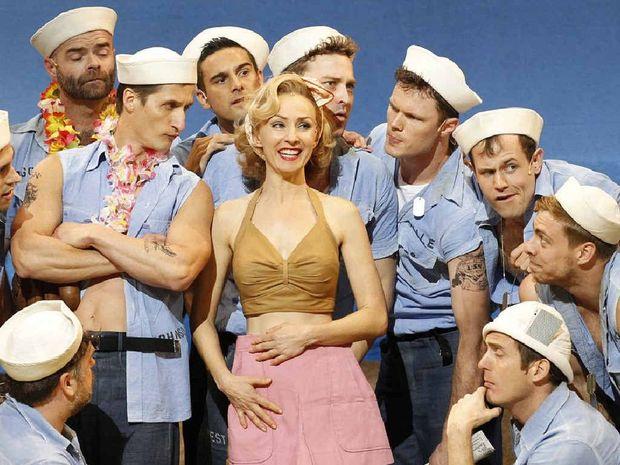 Award-winning performer Lisa McCune as Nellie Forbush with the boys of Opera Australia.
