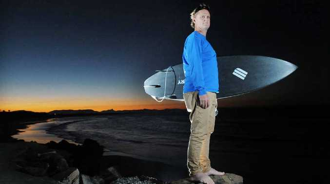 VINDICATED: Jayme Edwards from Byron Bay Surf School pictured at The Wreck, Byron Bay.