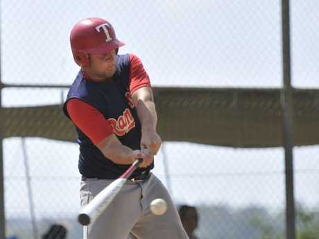 Brenton Laurie at the plate for Rangers during their victory over Pine Hills Black last month.