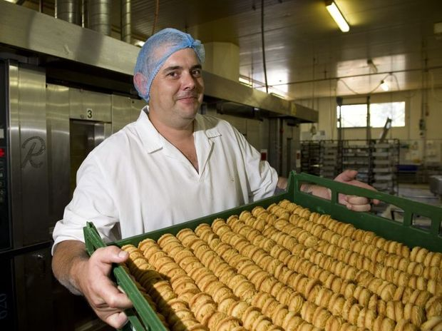 Baker Joel Fitzgibbon is a bakery specialist at Toowoomba company Quality Desserts