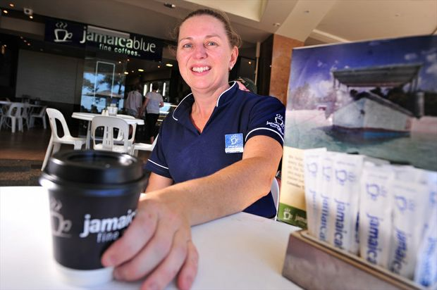 Michelle Lucadou-Wells is the new franchisee of Jamaica Blue on Mooloolaba Esplanade, enjoying a sea change from Sydney having worked at the chain's corporate head office for three years.