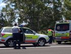 Ambulance officers are among the emergency service workers at the scene of a crash on the Bruce Hwy at Tiaro.