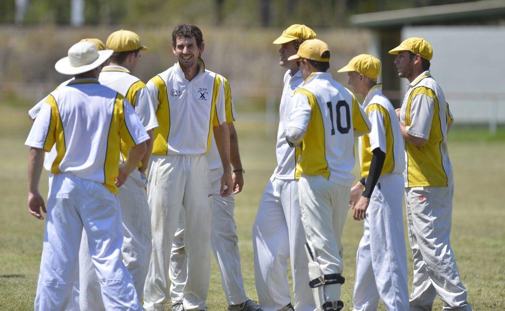 The Glen's Jason Seng celebrating a wicket.