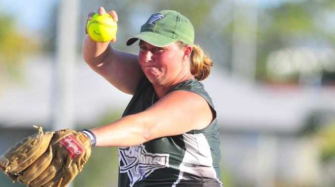 Telfords pitcher Beck Watson in action.