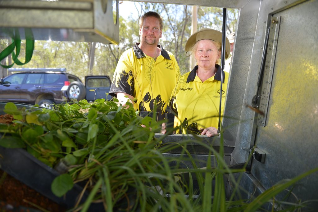Roy Dopson and Margaret Slade from the Gladstone 4WD club.