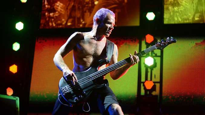 Red Hot Chili Peppers performing at this the 2013 Big Day Out.