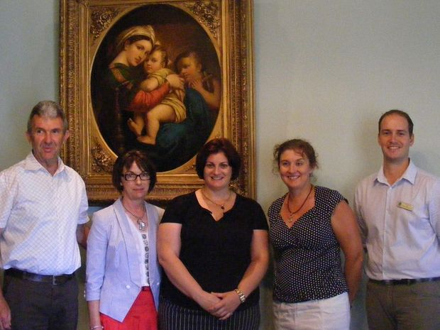 Looking forward to the new school year are (from left) Glenn Roff (St Mary's Goondiwindi), Kathy Bliss (acting principal Holy Name School, Toowoomba), Madonna Sleba (St Stephen's School, Pittsworth), Genny McNair (St Finbarr's School, Quilpie) and Luke Barrett (acting principal St Joseph's School, Millmerran). Absent was Paul Ryan (St Anthony's School, Toowoomba).