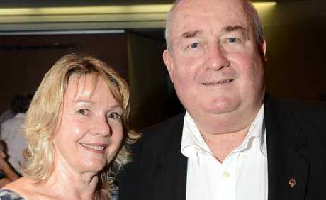 WELL EARNED: Wayne McDonnell with his wife Bronwen Cottman at the 2013 Ipswich Australia Day Awards night.