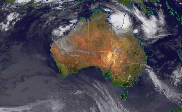 A satellite image from bom.gov.au.