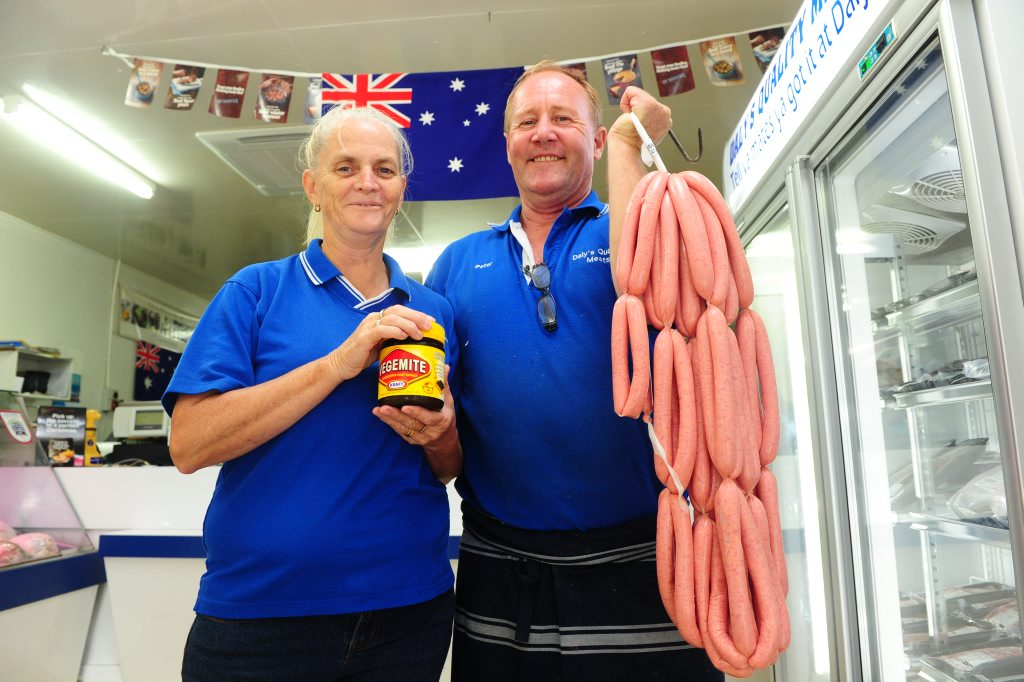 Michele and Peter O'Connor of Daly's Quality Meats are getting ready for Australia Day.