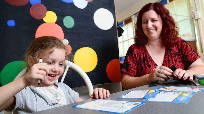Jennifer Deaves of Woodend is homeschooling her children including her youngest daughter Celeste, 5.