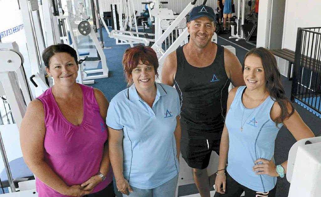Awsum Body Fitness Centre's Sharon Fisher, Fiona Stone, Phil Ball and Stacey Hunter. Photo: Adam Hourigan