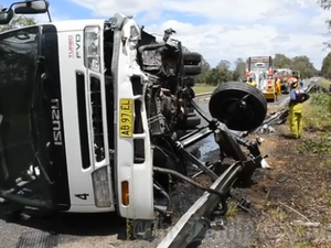 Coutts Crossing Truck Crash