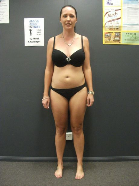 Katie Beveridge before she started her 12-week challenge at Red E Personal Training.