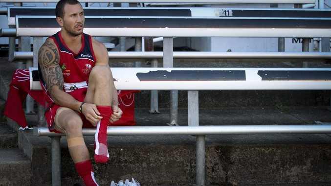 Quade Cooper prepares to train with the Queensland Reds.